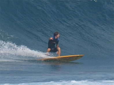 Irian surfing Lombob, Indonesie